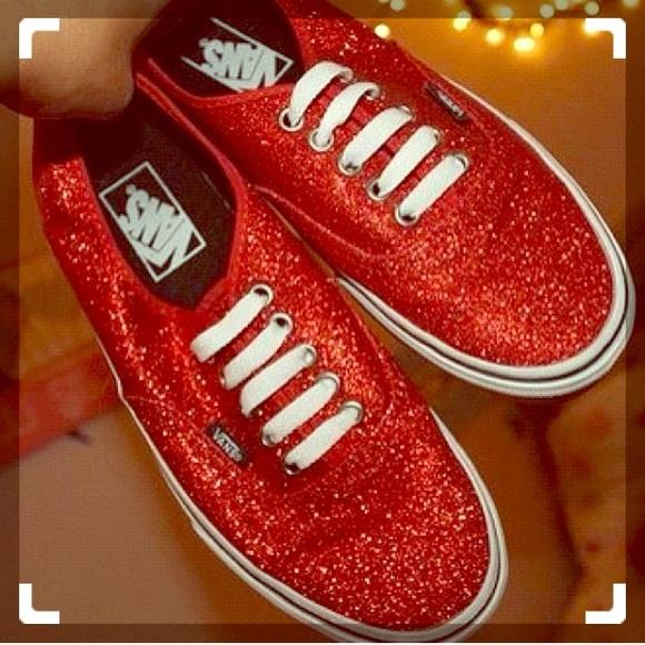 Red Glitter Vans. M 5a78fff23afbbdca1c3b1c1c aa82d6be7